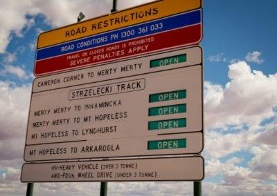 Birdsville Road Trip, Landscape, Road Signs, Cameron Corner, South Australia_25-08-16_371